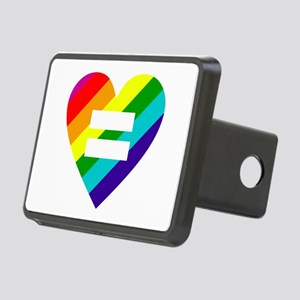 Rainbow love equals love Rectangular Hitch Cover