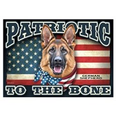 Patriotic - German Shepherd Wall Art Poster
