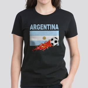 Argentina Soccer Women's Dark T-Shirt