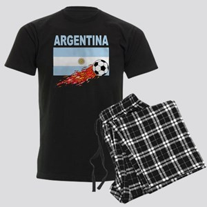Argentina Soccer Men's Dark Pajamas