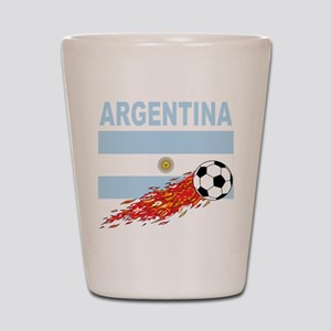 Argentina Soccer Shot Glass
