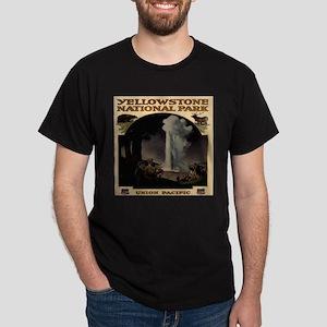 Yellowston National Park Union Pacific Dark T-Shir