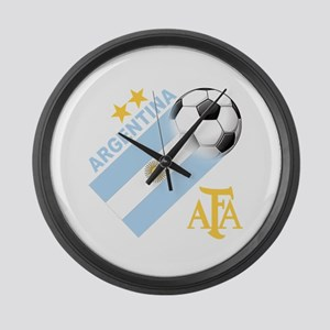 Argentina Soccer Large Wall Clock