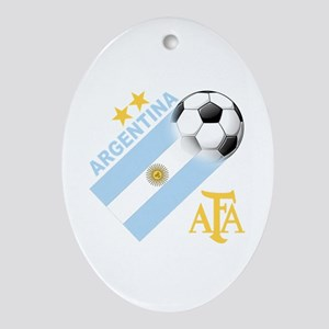Argentina Soccer Ornament (Oval)