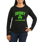 Drunky Women's Long Sleeve Dark T-Shirt