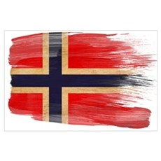 Norway Flag Wall Art Poster