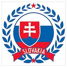 Slovakia Wreath Wall Art Poster