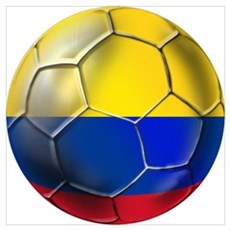 Colombian Soccer Futbol Wall Art Framed Print