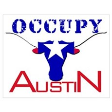 Occupy Austin Wall Art Poster
