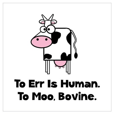 To Moo Bovine Wall Art Poster