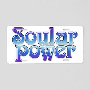 Soular Power Aluminum License Plate