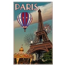 Vintage Eiffel Tower Wall Art Poster