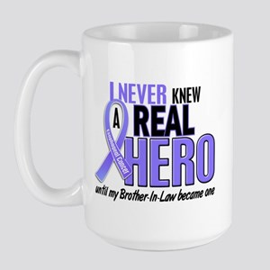 Never Knew a Hero Esophageal Cancer Large Mug