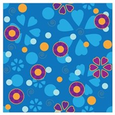 Groovy Flowers Wall Art Poster