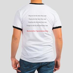 Sportsmanship (Text on front & back) Ringer T