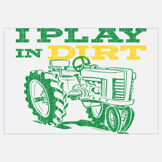 Play In Dirt Tractor Wall Art