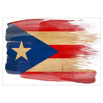 Puerto Rico Flag Wall Art Framed Print