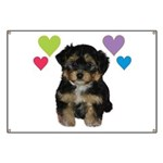 Cute Yorkiepoo Puppy Banner
