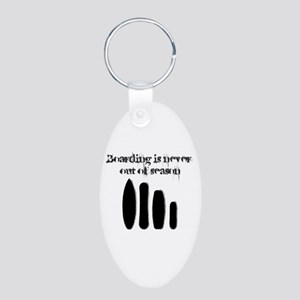 Never out of season Aluminum Oval Keychain