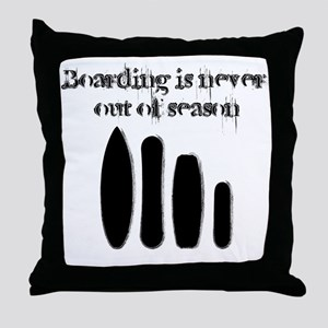 Never out of season Throw Pillow