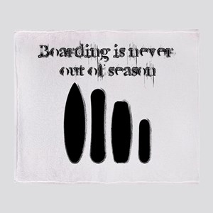 Never out of season Throw Blanket