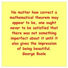 George Boole quote Wall Art Poster