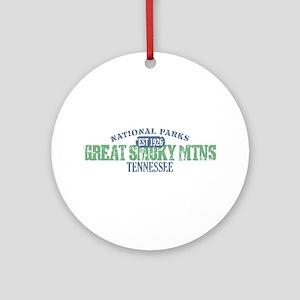 Great Smoky Mountains Nat Par Ornament (Round)