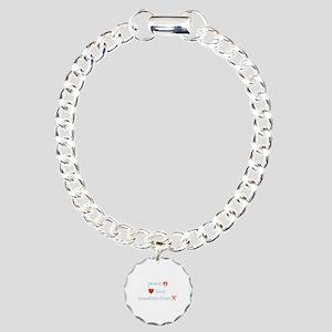 Peace, Love and Construction Charm Bracelet, One C