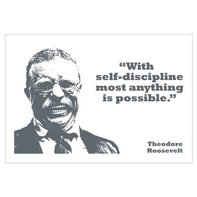 Roosevelt - Self-Discipline Wall Art Canvas Art