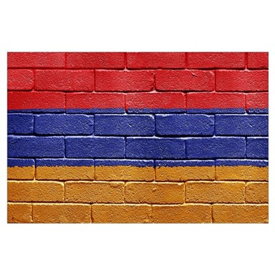 Flag of Armenia Wall Art Poster