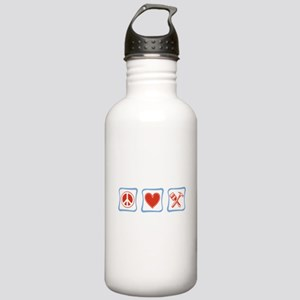 Peace, Love and Construction Stainless Water Bottl