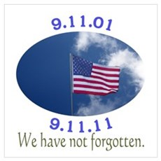 9-11 Not Forgotten Wall Art Framed Print