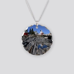 Pemaquid Point Light Necklace Circle Charm