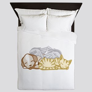 pet lover Queen Duvet