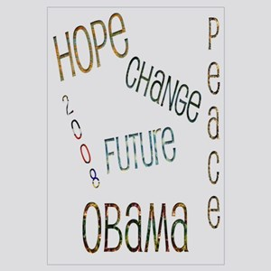Obama With Words Wall Art