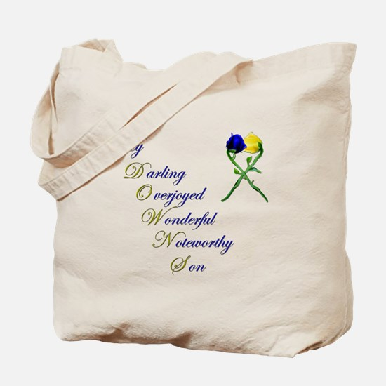 Downs Syndrome Son Tote Bag