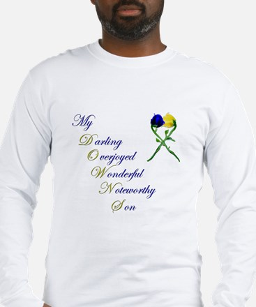 Downs Syndrome Son Long Sleeve T-Shirt
