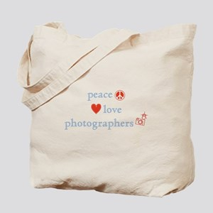 Peace, Love and Photographers Tote Bag