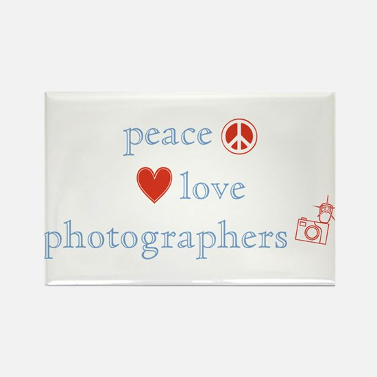 Peace, Love and Photographers Rectangle Magnet