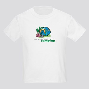 Never Too Young to Start Camping Kids T-Shirt