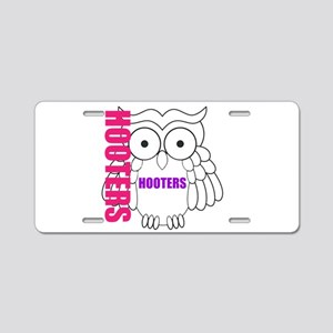 Hooters Aluminum License Plate