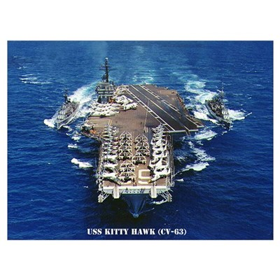 USS KITTY HAWK Wall Art Canvas Art