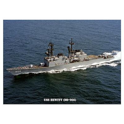 USS HEWITT Wall Art Poster
