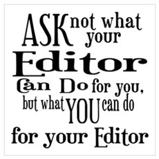 Ask Not Editor Wall Art Poster