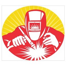 welder welding worker Wall Art Poster