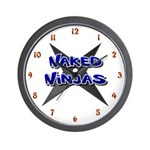 Naked Ninjas Wall Clock