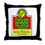 Lizard On A Stik! Throw Pillow