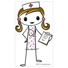 Cute Nurse Wall Art Poster