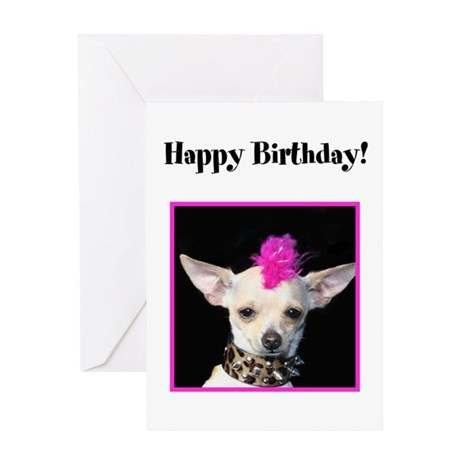 Happy Birthday Chihuahua Greeting Card By Ritmoboxers