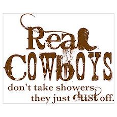 Real Cowboys Wall Art Poster